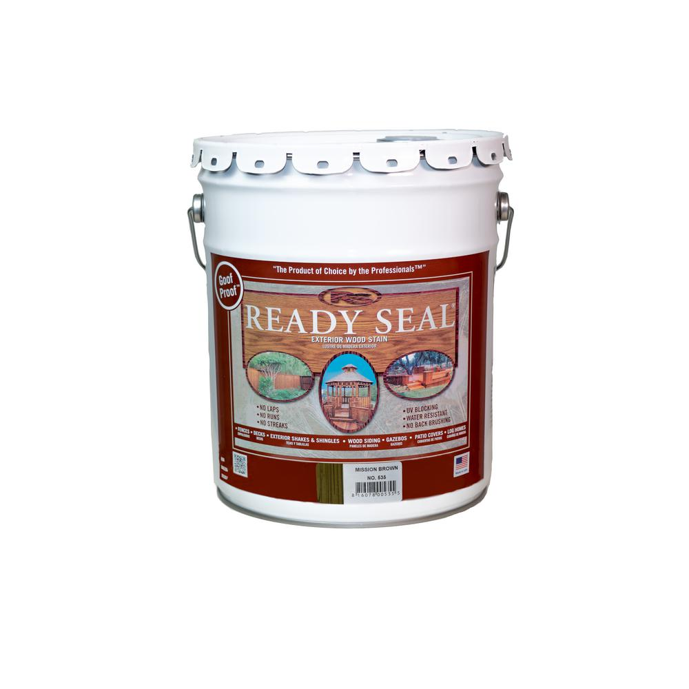 Ready Seal 5 Gal. Mission Brown Exterior Wood Stain and Sealer