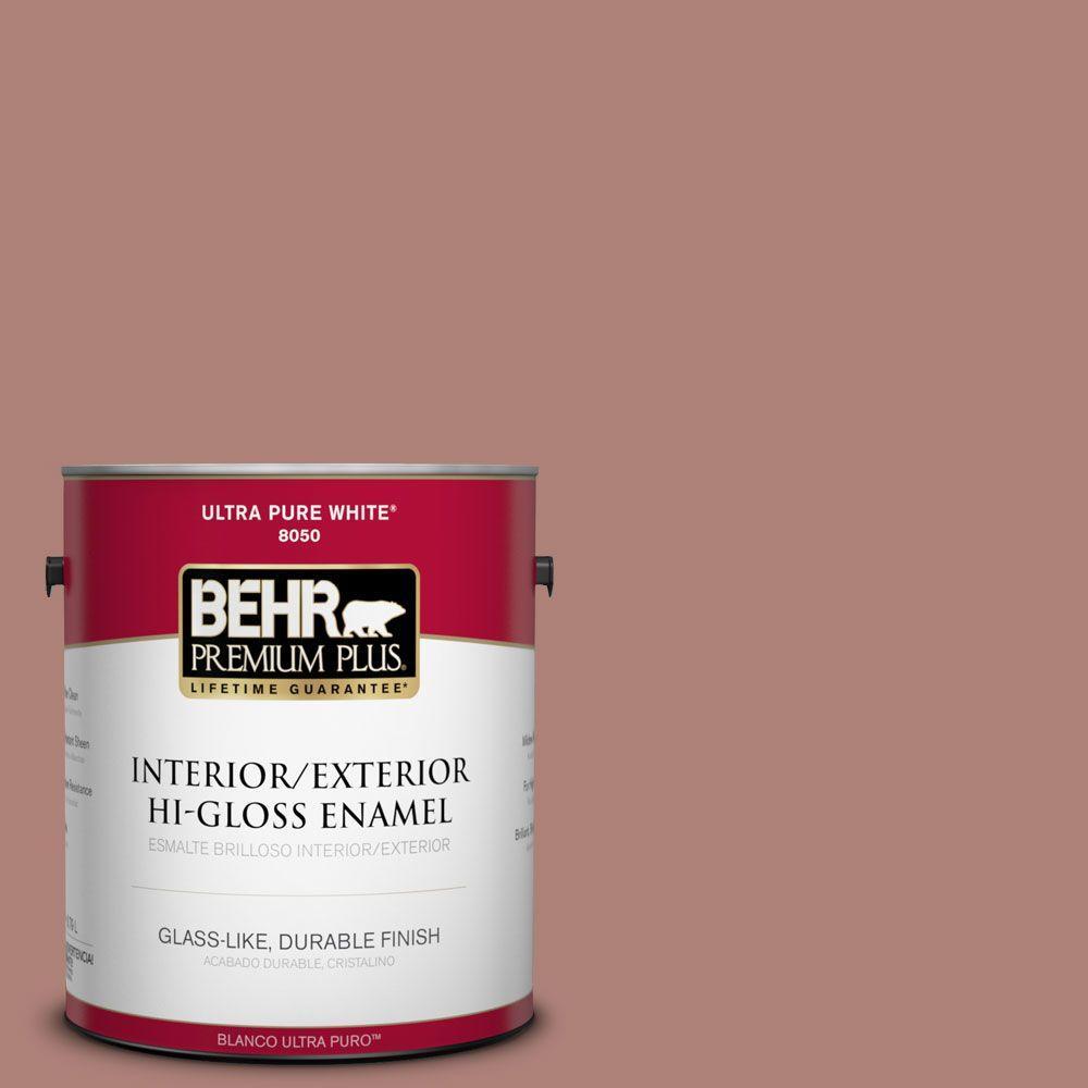 1-gal. #S170-5 Smoke Bush Rose Hi-Gloss Enamel Interior/Exterior Paint