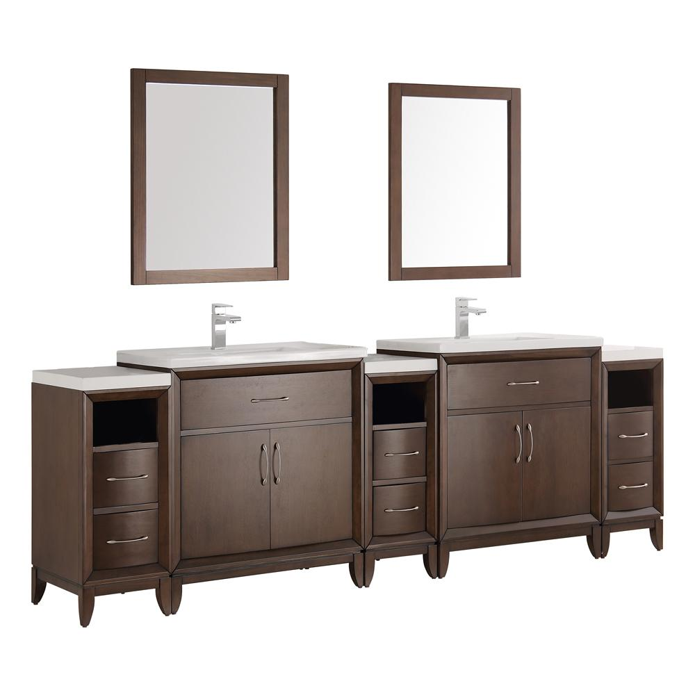 side torino bathroom vanity and sinks double two sink vanities vessel three w vsl modern espresso cabinets fresca