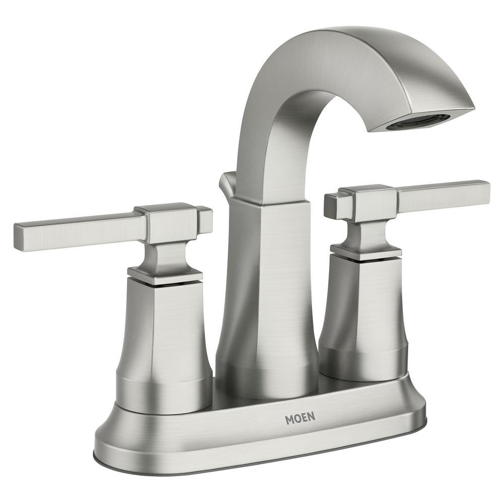 Ayda 4 in. Centerset 2-Handle Bathroom Faucet in Spot Resist Nickel