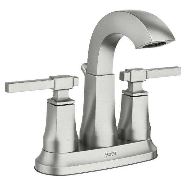 Ayda 4 in. Centerset 2-Handle Bathroom Faucet in Spot Resist Nickel