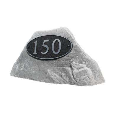 24 in. L x 12 in. W x 12 in. H Small Plastic Rock Cover in Gray