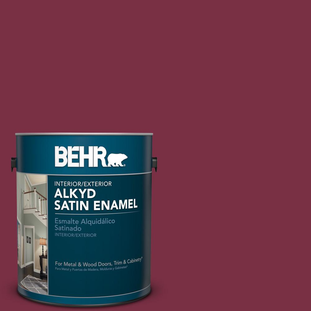 1 gal. #PPU1-13 Spiced Wine Satin Enamel Alkyd Interior/Exterior Paint
