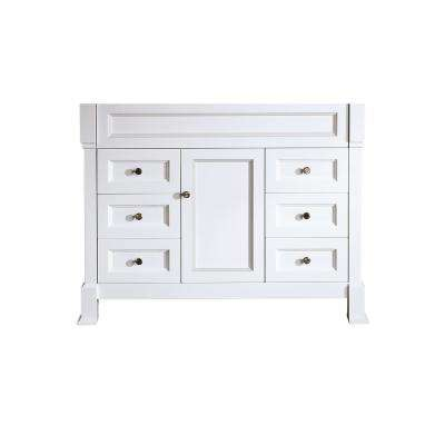 Bosconi 43 in. Main Cabinet Only in White with Antique Bronze Hardware