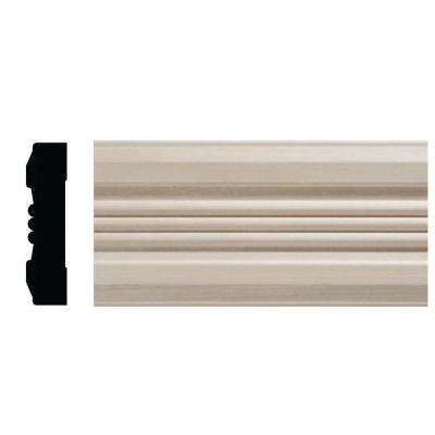 3/4 in. x 3 in. x 84 in. White Hardwood Victorian Casing Moulding