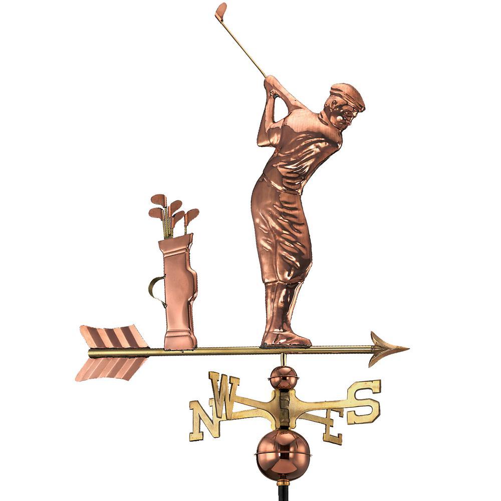 Golfer Weathervane - Pure Copper