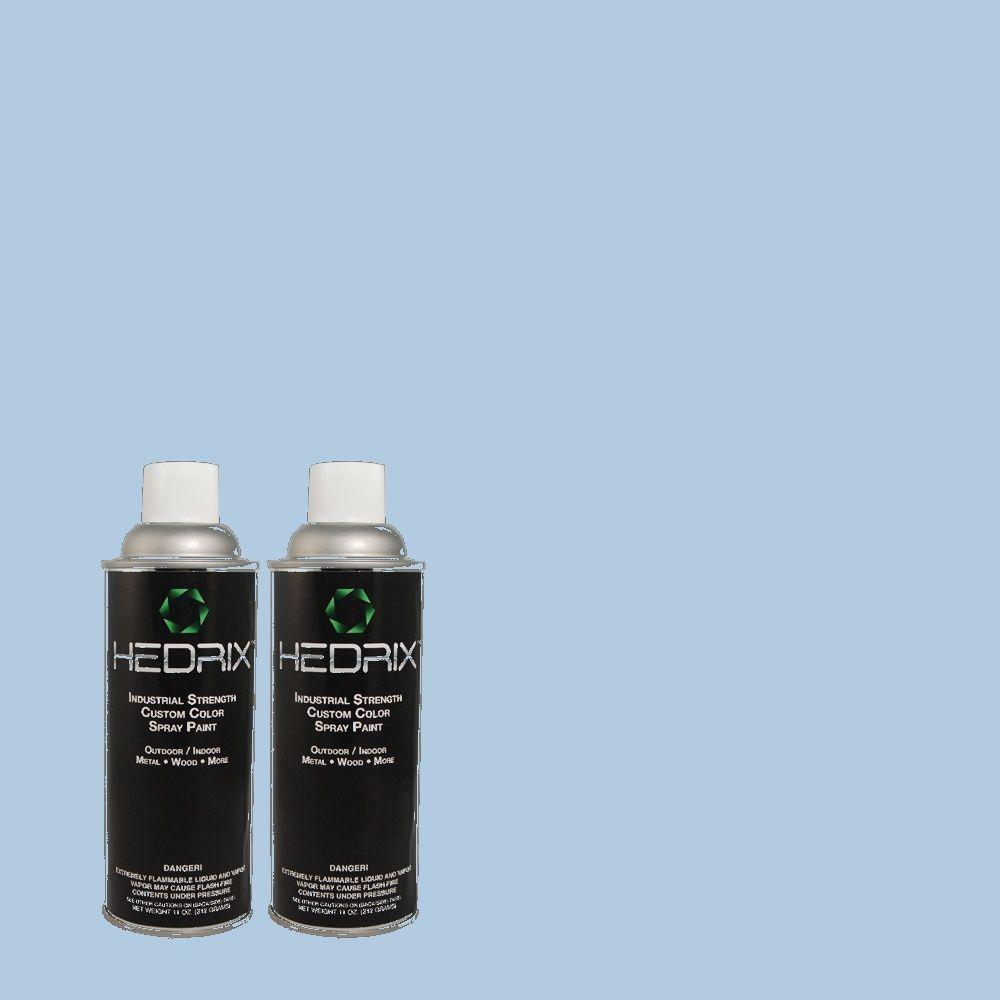 Hedrix 11 oz. Match of 1B38-2 Hyacinth Sky Low Lustre Custom Spray Paint (2-Pack)