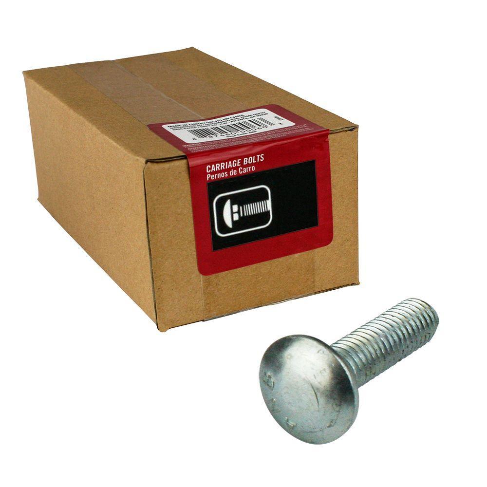 Everbilt 1/4 in. - 20 tpi x 2 in. Zinc-Plated Coarse Thread Carriage Bolt (100-Piece per Box)