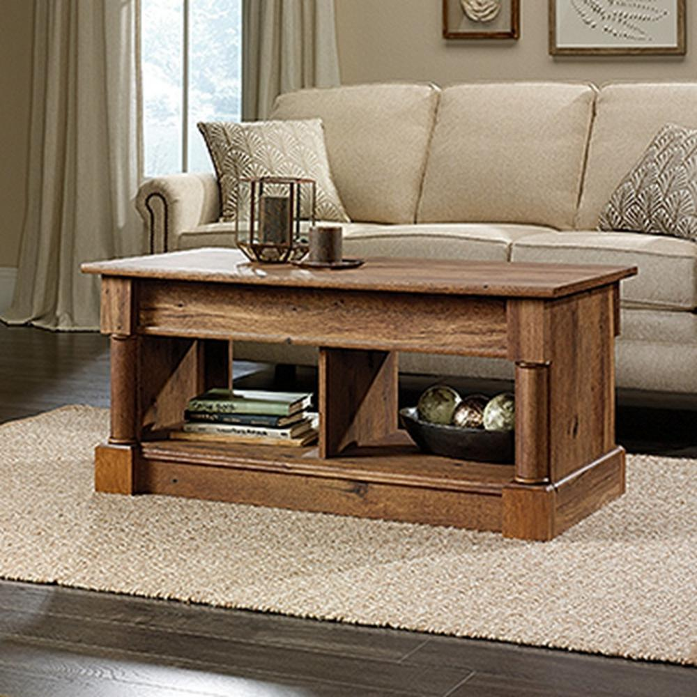 SAUDER Palladia Collection Vintage Oak Lift Top Coffee Table