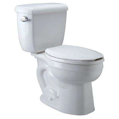 High Performance 2-piece 1.6 GPF Single Flush Round Toilet in White