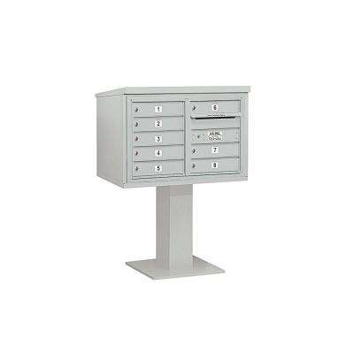 3400 Series 48-1/8 in. 5 Door High Unit Gray 4C Pedestal Mailbox with 8 MB1 Doors
