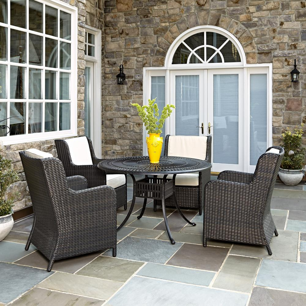 Home Styles Largo 48 In 5 Piece Patio Dining Set With