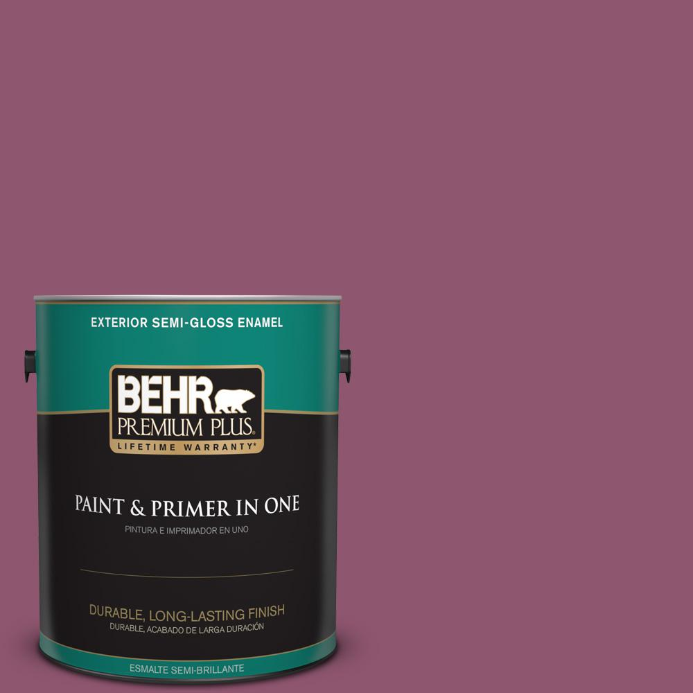 1 gal. #PPU1-17 Majestic Orchid Semi-Gloss Enamel Exterior Paint