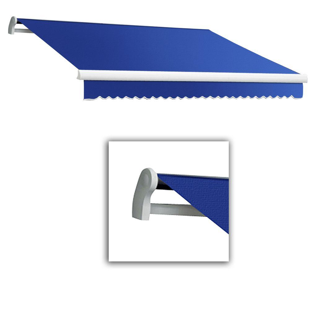 AWNTECH 10 ft. Maui-LX Left Motor with Remote Retractable Awning (96 in. Projection) Bright Blue