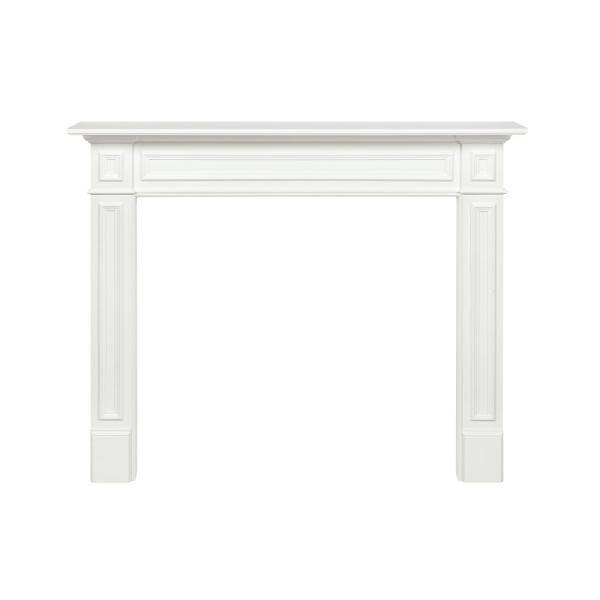 The Mike 60 in. x 52 in. MDF White Full Surround Mantel