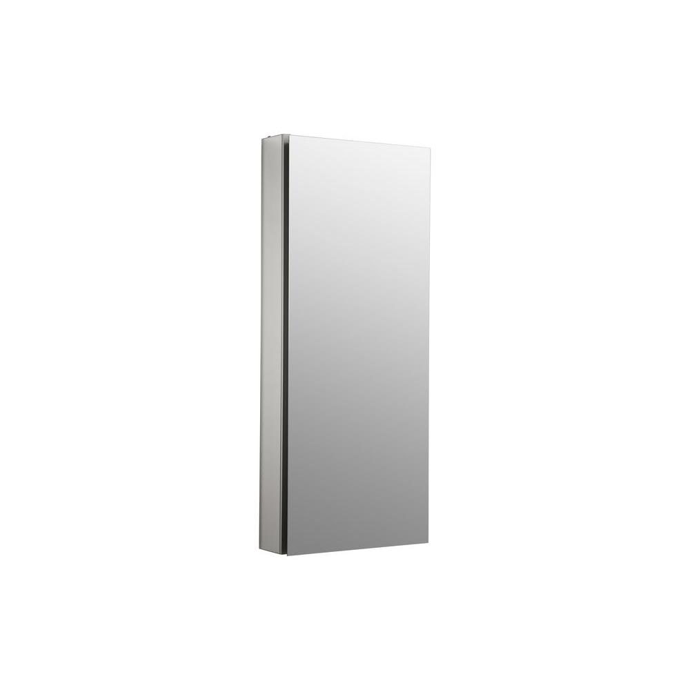 Catalan 15 in. Recessed or Surface Mount Medicine Cabinet in Satin