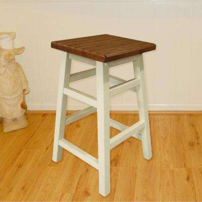 Colby Stave 23.75 in. Antique White Bar Stool
