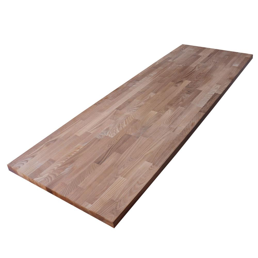 Hardwood Reflections 8 ft. 2 in. L x 2 ft. 1 in. D x 1.5 in. T Butcher Block Countertop in Thermally Modified Ash