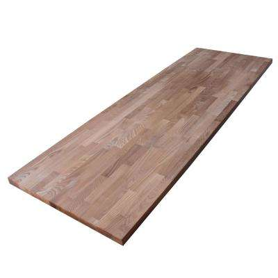 8 ft. 2 in. L x 2 ft. 1 in. D x 1.5 in. T Butcher Block Countertop in Thermally Modified Ash