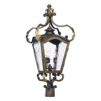 Acadiana 4-Light Outdoor Castle Bronze Post Light