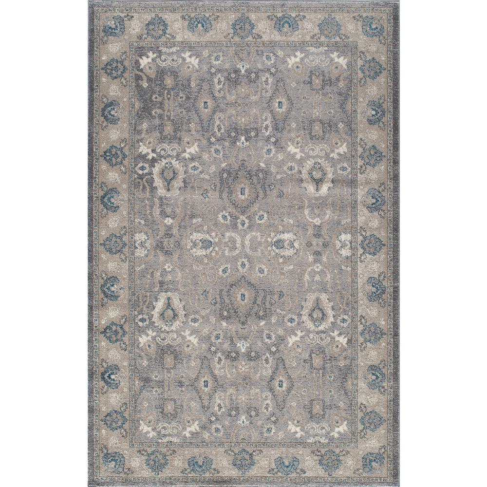 Kerman Silver 2 ft. x 3 ft. Indoor Area Rug