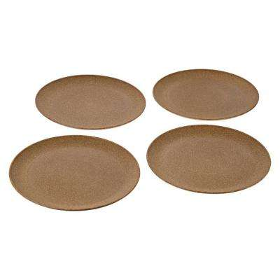 EVO Sustainable Goods 10 in. Light Brown Eco-Friendly Wood-Plastic Composite Plate (Set of 4)