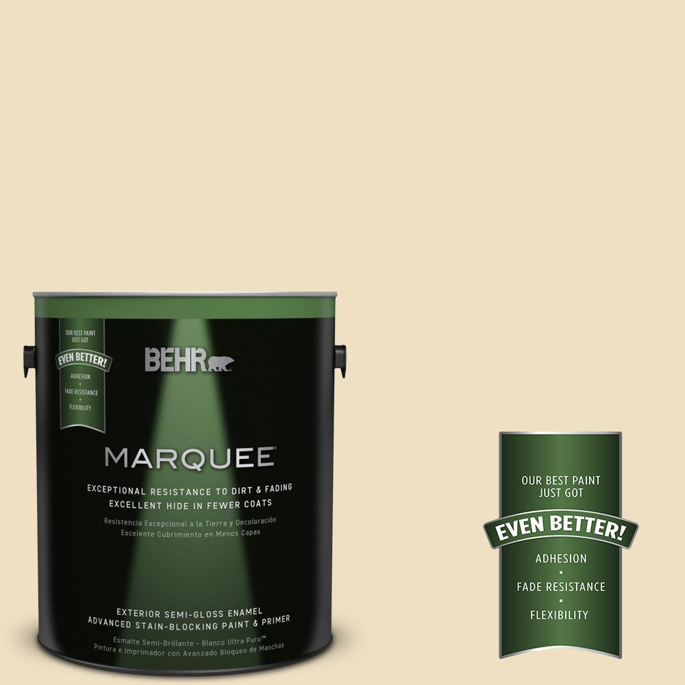 BEHR MARQUEE Home Decorators Collection 1-gal. #HDC-NT-17 New Cream Semi-Gloss Enamel Exterior Paint