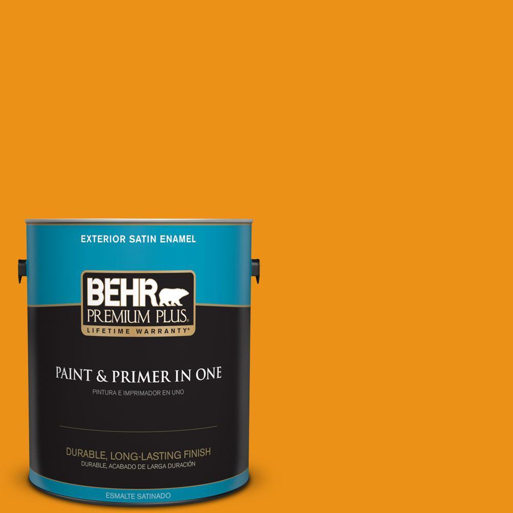 BEHR Premium Plus 1-gal. #290B-7 Yam Satin Enamel Exterior Paint