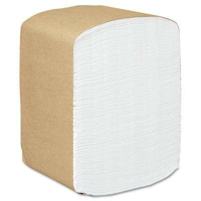 13 in. x 12 in. White 1-Ply Full-Fold Dispenser Napkins (16-Pack)