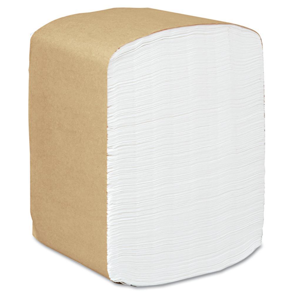 13 in. x 12 in. White 1-Ply Full-Fold Dispenser Napkins (375/Pack) (16 Packs Per Carton)