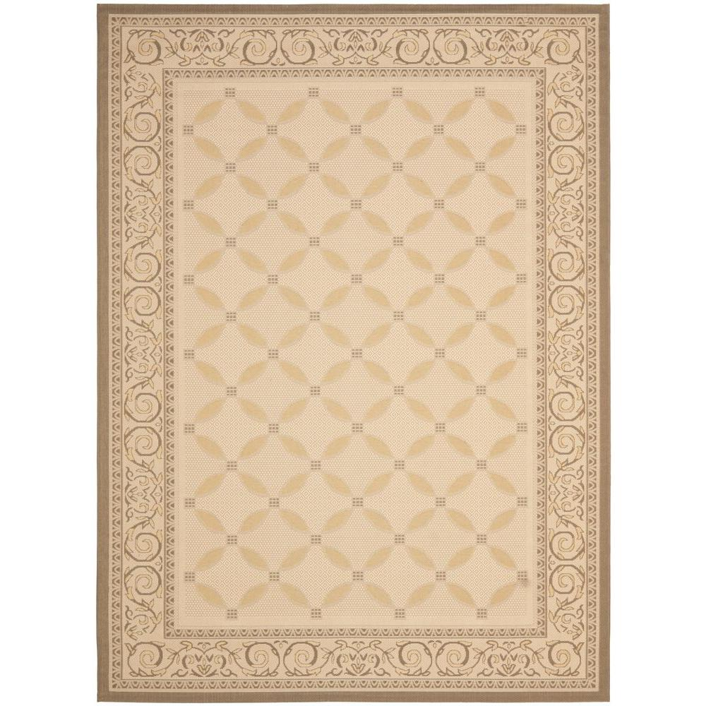 Courtyard Beige/Dark Beige w. Yellow Weft 8 ft. x 11 ft.