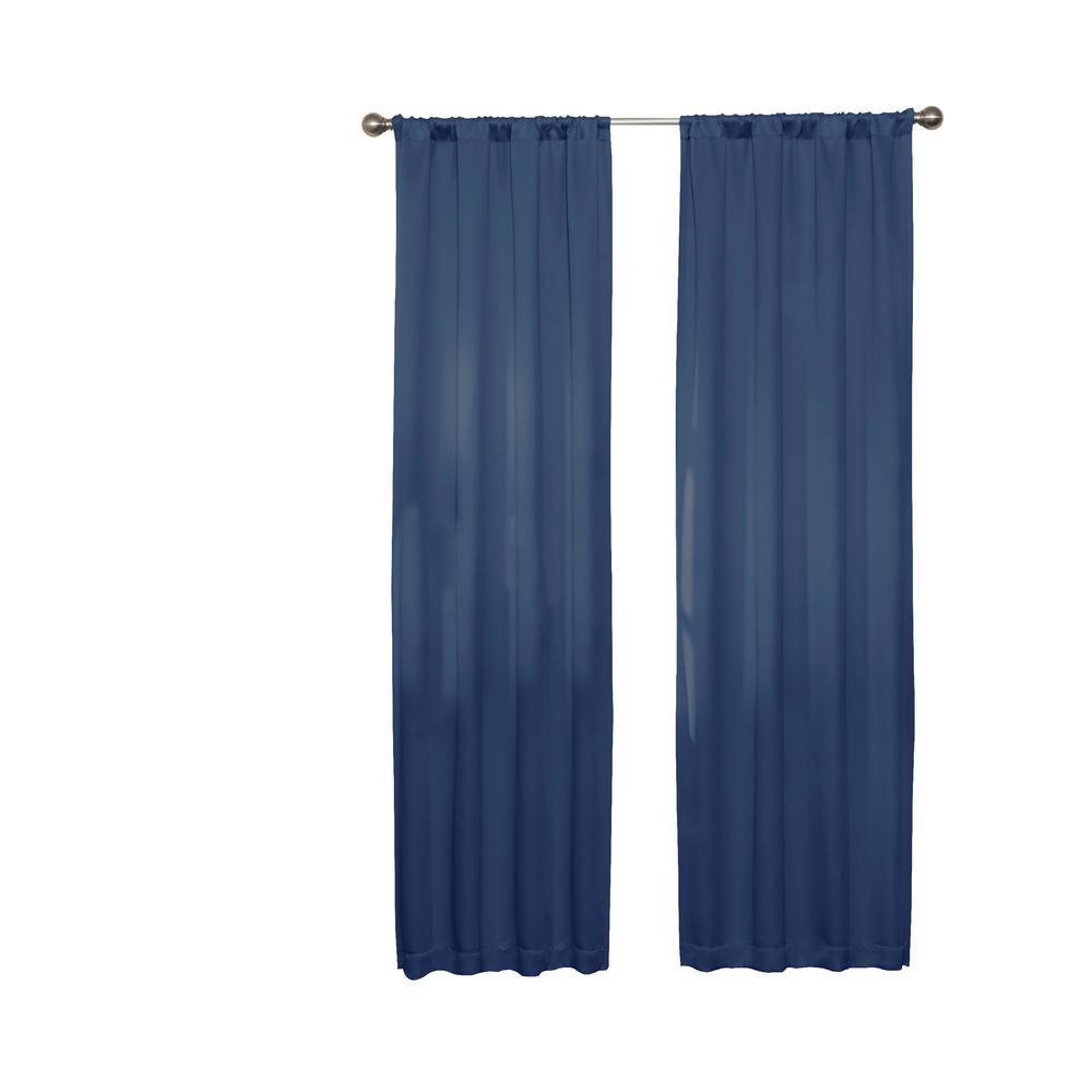 Darrell 63 in. L Indigo Rod Pocket Curtain