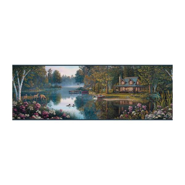 York Wallcoverings Border Portfolio II Meditation Lake Border BP8378BD