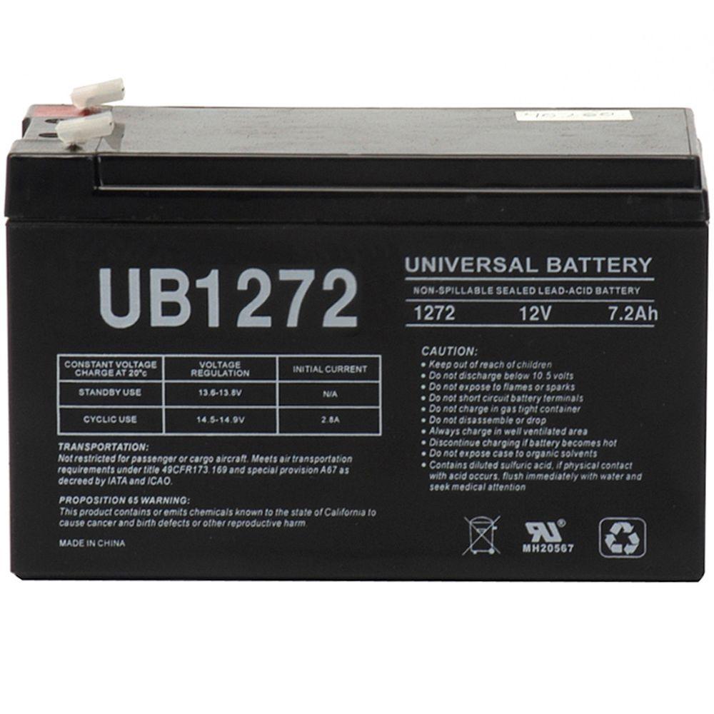SLA 12-Volt 7.2 Ah F1 Terminal Battery