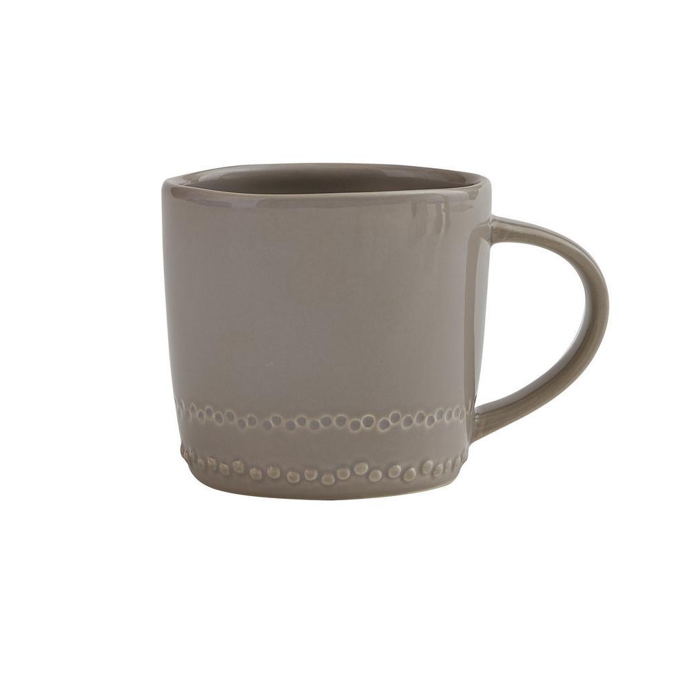 Peyton 8 oz. Stone Ceramic Coffee Mug (Set of 4)