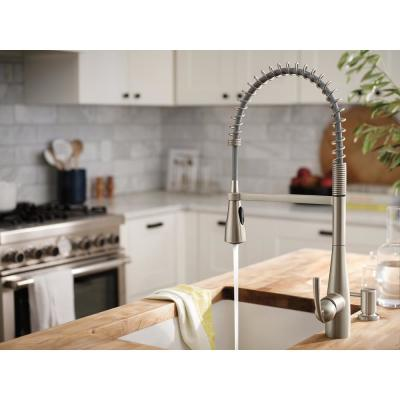 Essie Spring Single-Handle Pull-Down Sprayer Kitchen Faucet with PowerClean in Spot Resist Stainless