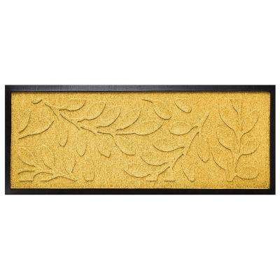 Yellow 15 in. x 36 in. Brittany Leaf Boot Tray