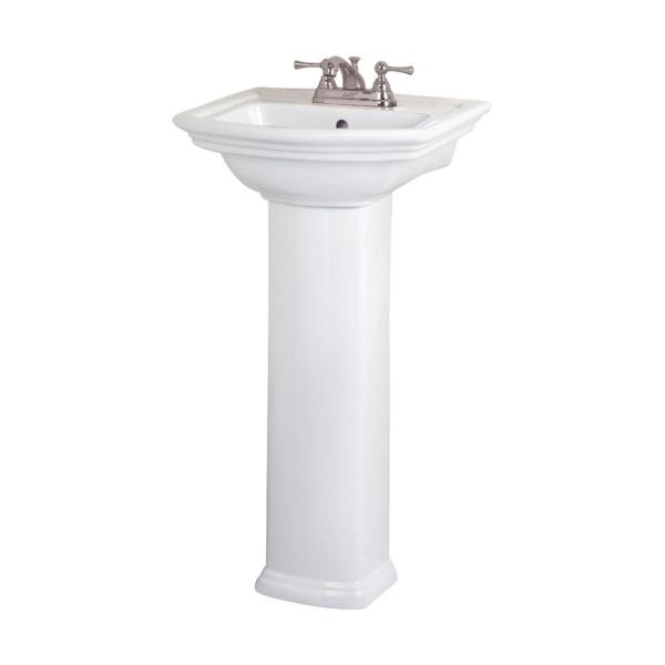 Unbranded Washington 460 18 In Pedestal Combo Bathroom Sink In White 3 384wh The Home Depot