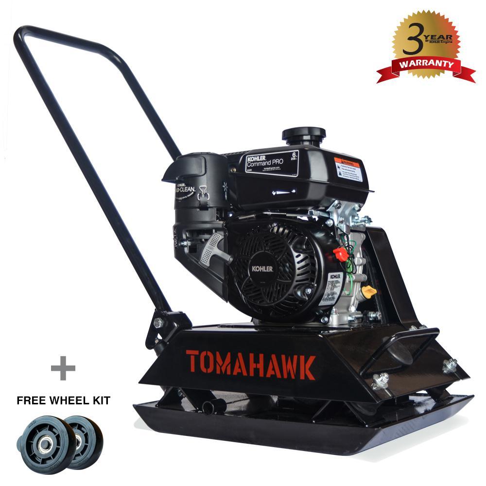 Tomahawk 6 HP Gas Plate Compactor for Asphalt/Soil Compaction
