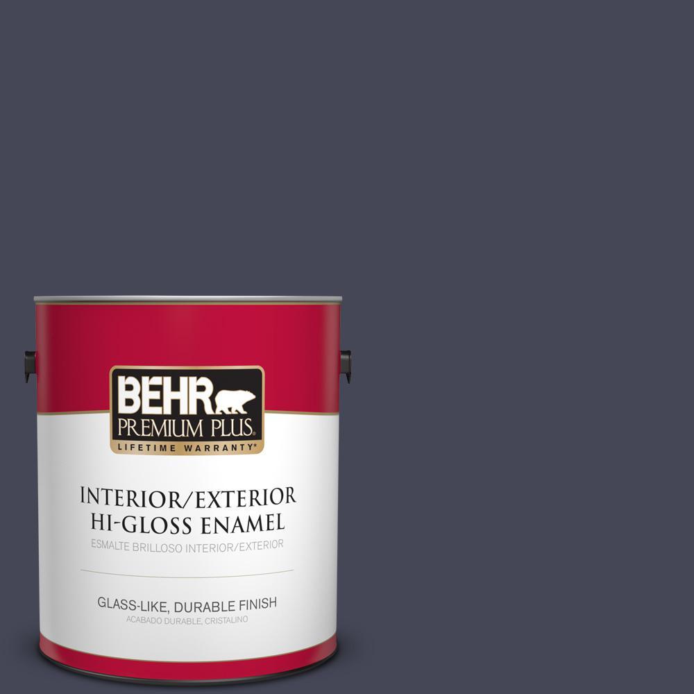 1 gal. #PPU15-19 Black Sapphire Hi-Gloss Enamel Interior/Exterior Paint