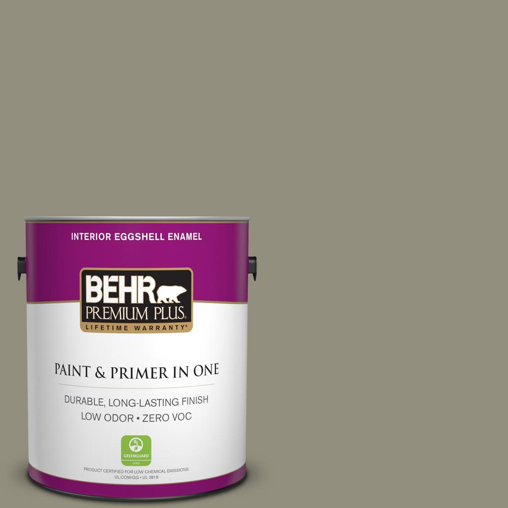 BEHR Premium Plus 1-gal. #N350-5 Muted Sage Eggshell Enamel Interior Paint