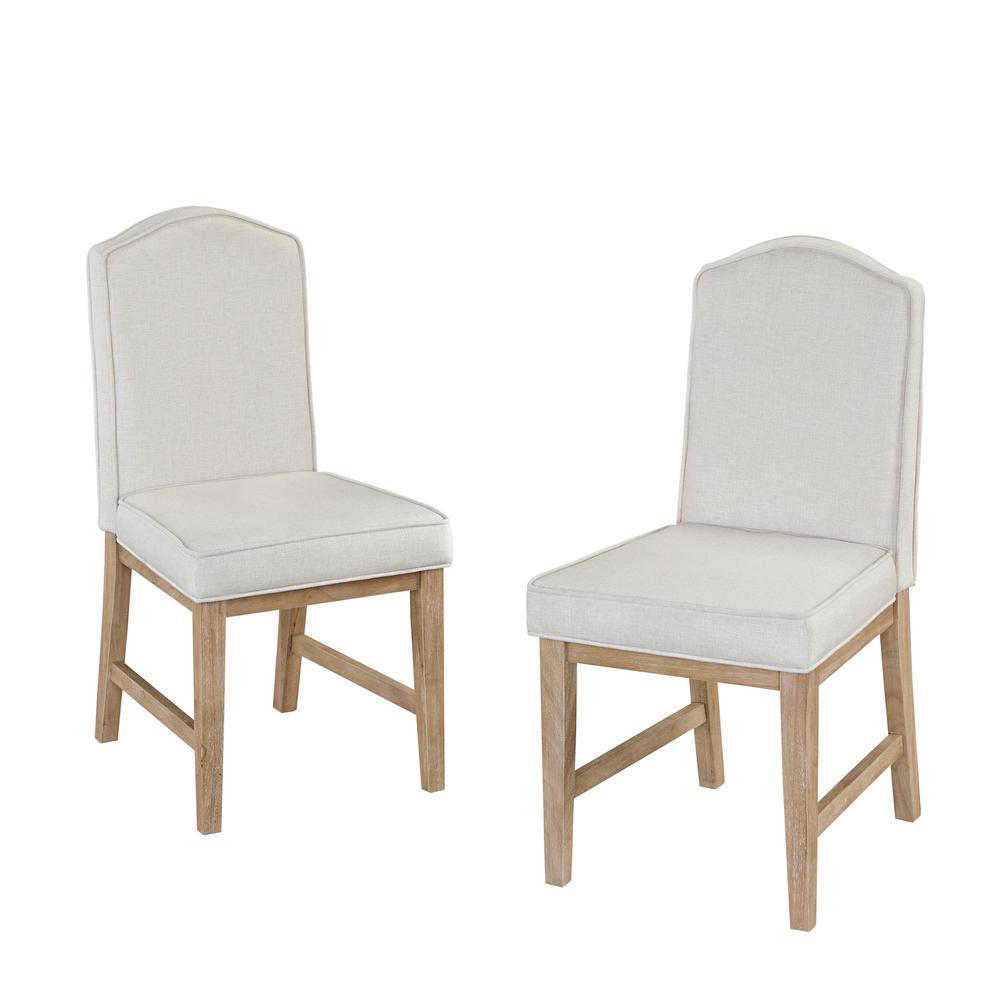 Home Styles White Wash Side Chair (Set Of 2)