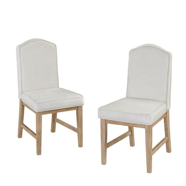 Home Styles White Wash Side Chair (Set of 2) 5170-812