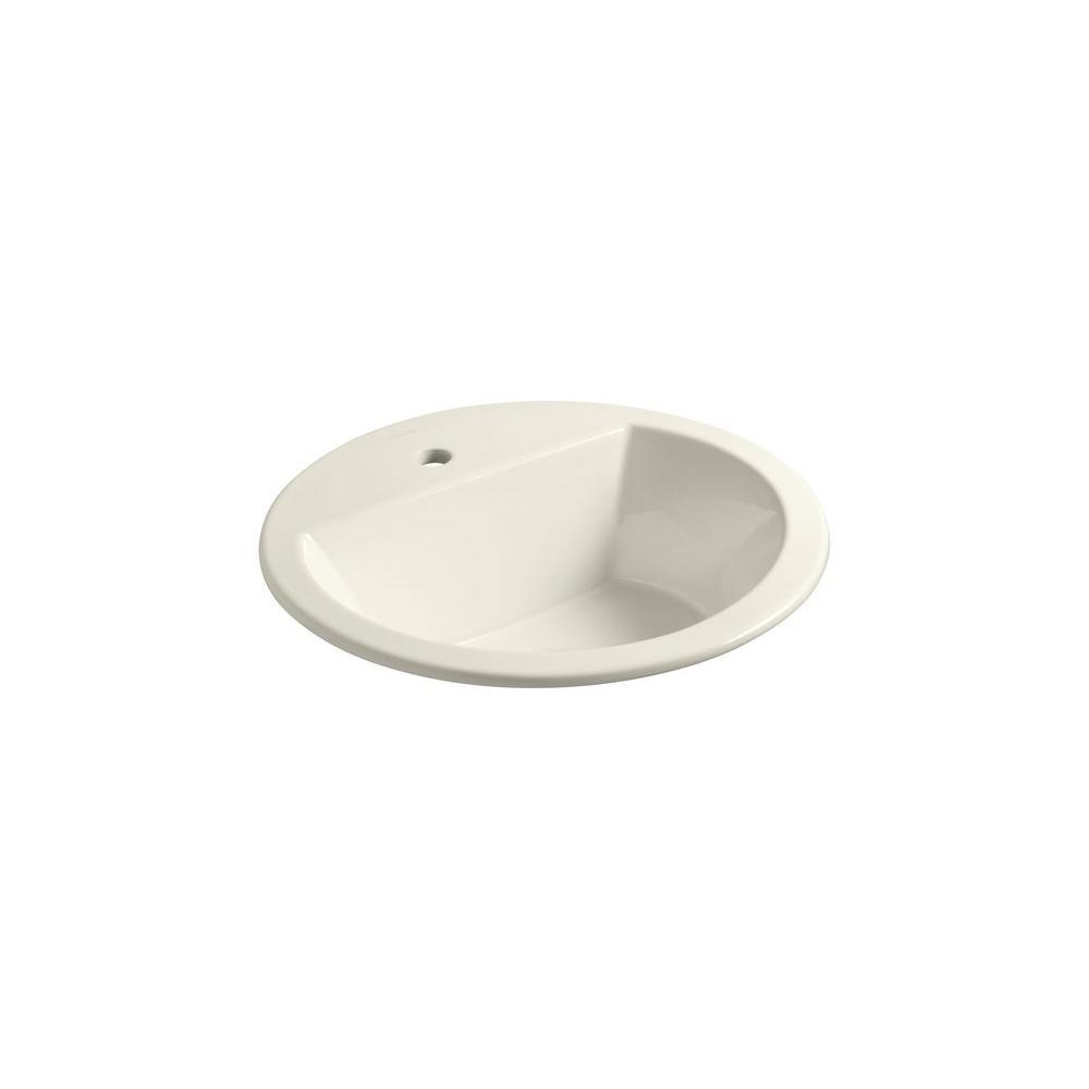 Kohler Bryant Round Self Bathroom Sink In Biscuit K 2714 1