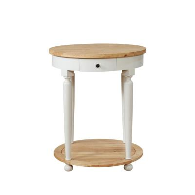 Bryant White Round Kitchen Island