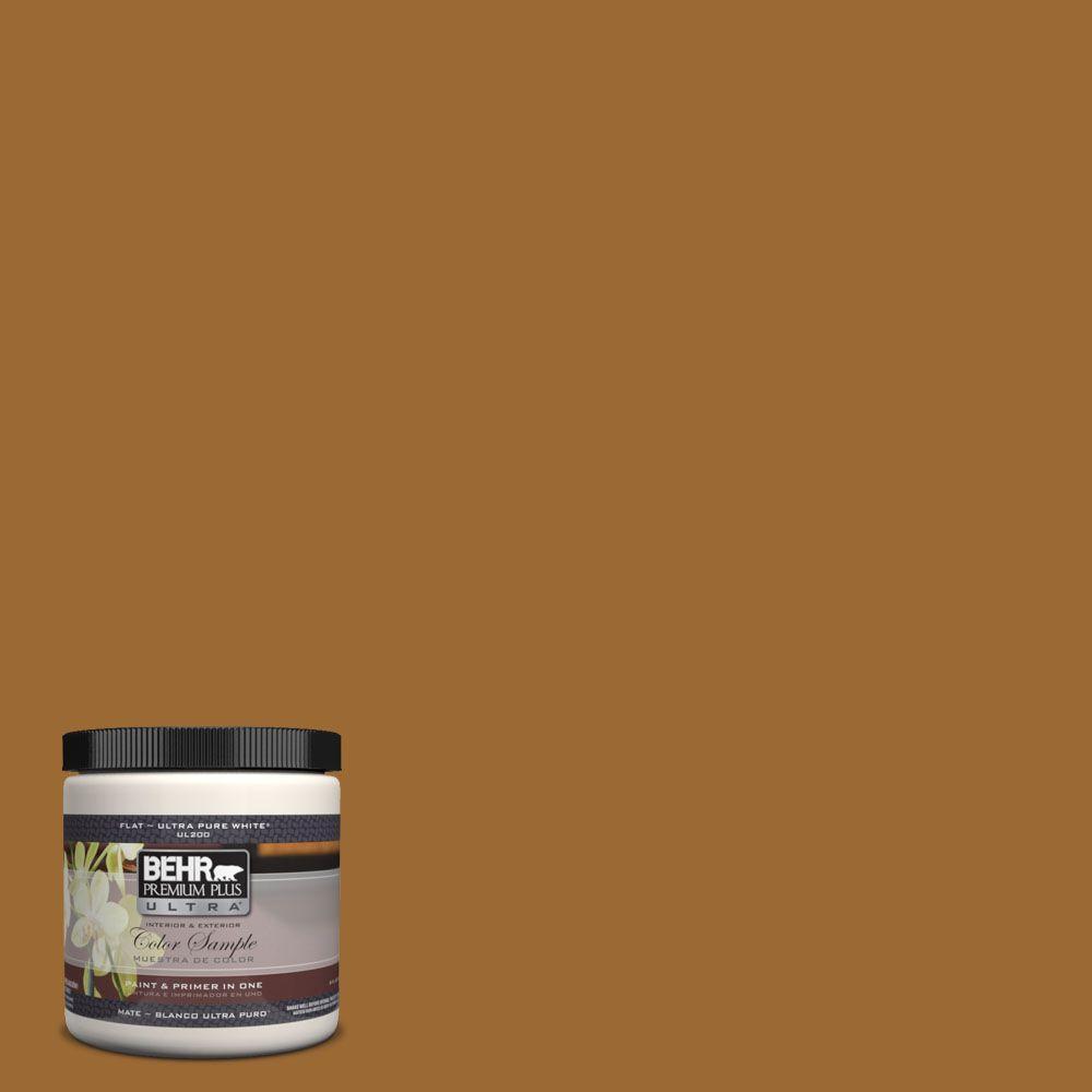 BEHR Premium Plus Ultra 8 oz. #UL160-1 Curry Powder Interior/Exterior Paint Sample