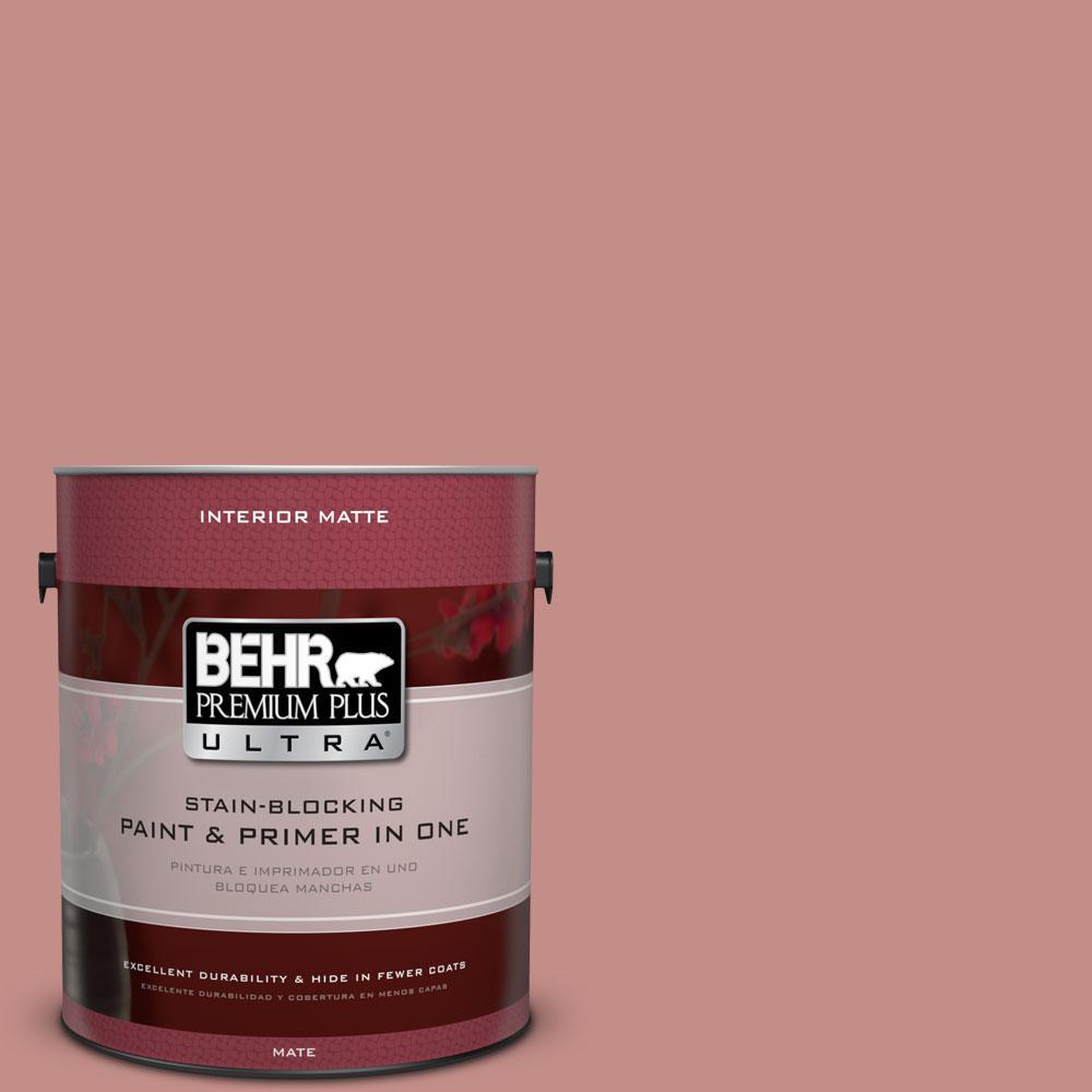 BEHR Premium Plus Ultra 1 gal. #BIC-32 Grand Sunset Matte Interior Paint