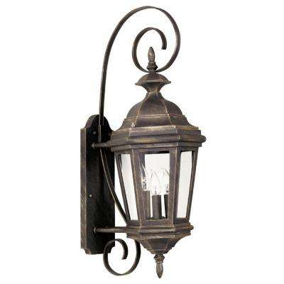Estate 3-Light Antique Patina Medium Wall Lantern
