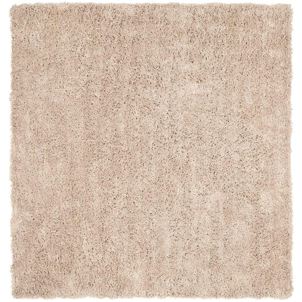 Safavieh Classic Shag Ultra Taupe (Brown) 9 ft. x 9 ft. S...