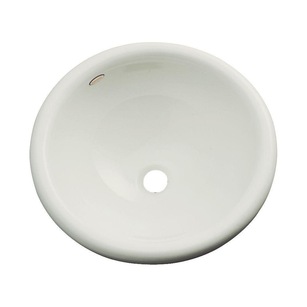 Thermocast Eudora Drop-In Bathroom Sink in Tender Gray